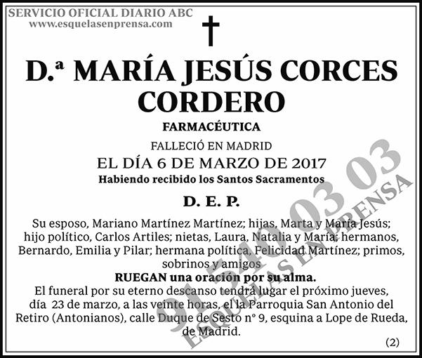 María Jesús Corces Cordero